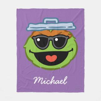Couverture Polaire Le visage de sourire d'oscar avec des lunettes de