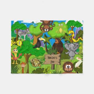 Couverture Polaire Le zoo de l'enfant personnalisé