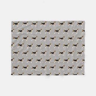 Couverture Polaire Les beagles modèlent le gris