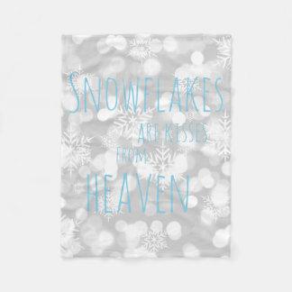 Couverture Polaire Les flocons de neige sont des baisers de ciel