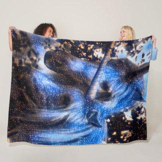 Couverture Polaire Licornes de nuit étoilée
