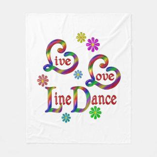 Couverture Polaire Ligne danse vivante d'amour