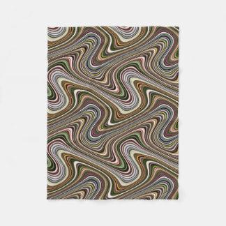 Couverture Polaire Ligne sinueuse multicolore très unique motif