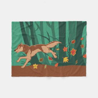 Couverture Polaire Loup d'automne