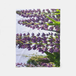 Couverture Polaire Lupins pourpres