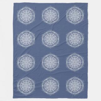 Couverture Polaire Mandala de nuit