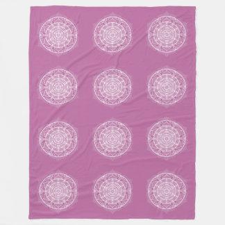 Couverture Polaire Mandala de trèfle