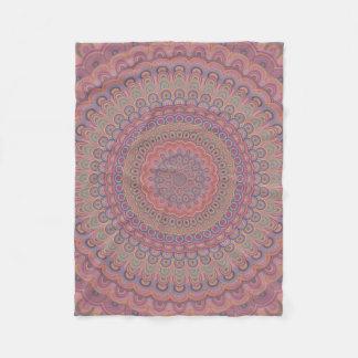 Couverture Polaire Mandala d'ovale de Boho