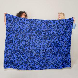 Couverture Polaire Mandala hawaïen bleu de Foulard de satin de