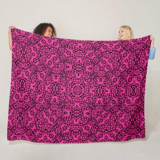 Couverture Polaire Mandala hawaïen rose de Foulard de satin de