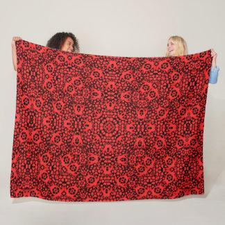 Couverture Polaire Mandala hawaïen rouge de Foulard de satin de