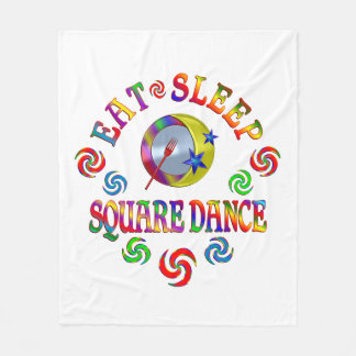 Couverture Polaire Mangez la danse carrée de sommeil