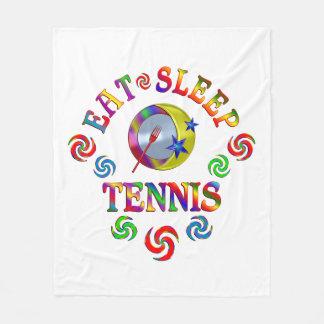 Couverture Polaire Mangez le tennis de sommeil