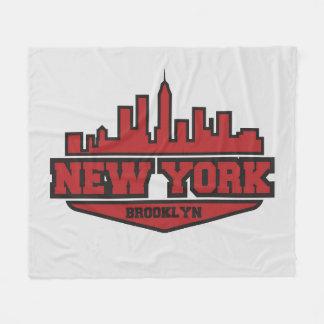 Couverture Polaire Manuscrit de style de bloc de Brooklyn New York |
