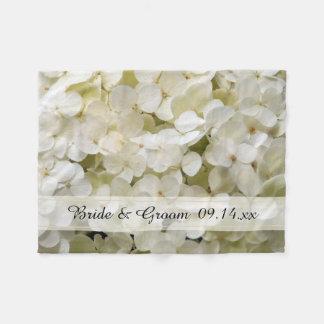 Couverture Polaire Mariage floral d'hortensia blanc