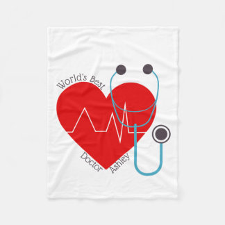 Couverture Polaire Meilleur docteur Nurse du monde personnalisé par