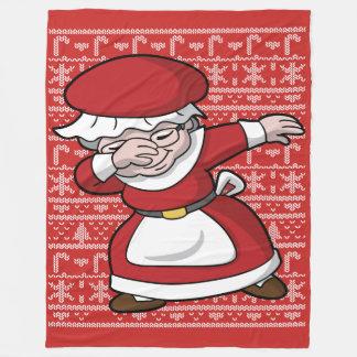 Couverture Polaire Mme tamponnante Clause Dab de Noël