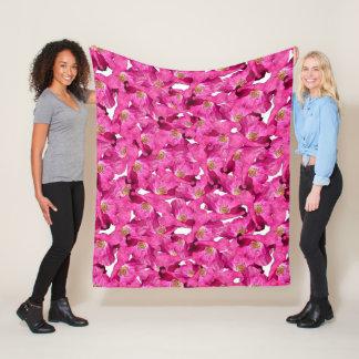 Couverture Polaire Modèle rose de pavots floraux
