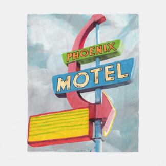 Couverture Polaire Motel de Phoenix d'aquarelle