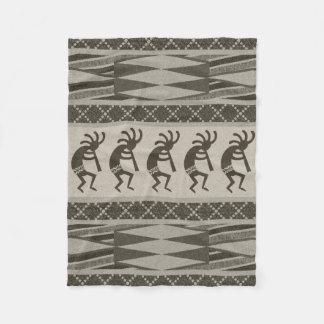 Couverture Polaire Motif aztèque tribal de Kokopelli de conception du