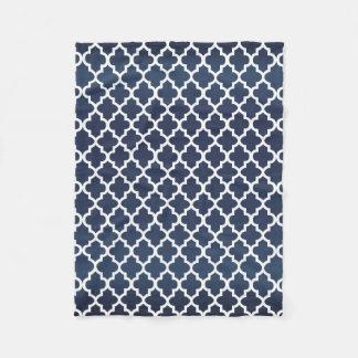 Couverture Polaire Motif bleu et blanc d'ardoise de Quatrefoil
