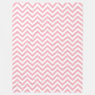 Couverture Polaire Motif de rose et blanc grand de Chevron de zigzag