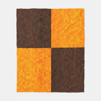 Couverture Polaire Motif de tuile de mosaïque de Brown jaune,
