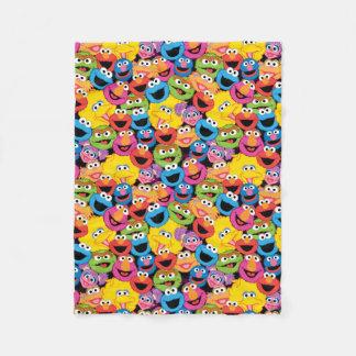 Couverture Polaire Motif de visages de caractère de Sesame Street