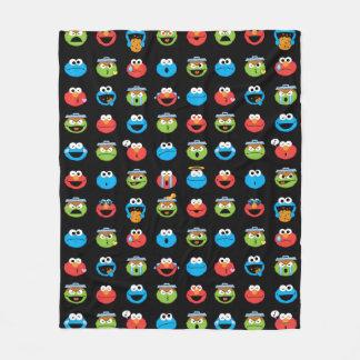 Couverture Polaire Motif d'Emoji de copains de Sesame Street