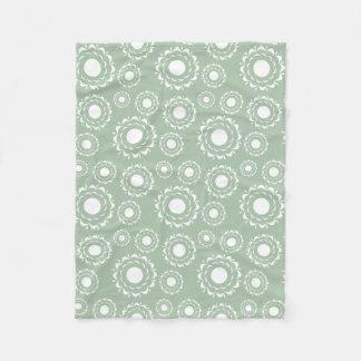 Couverture Polaire Motif floral abstrait