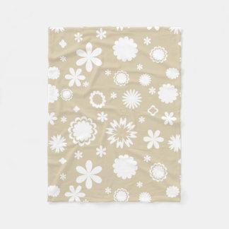 Couverture Polaire Motif floral dans le beige
