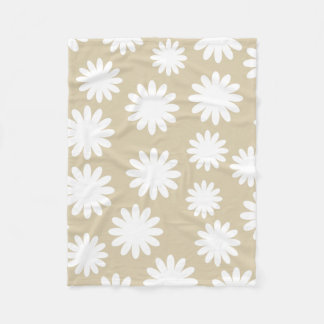Couverture Polaire Motif floral simple