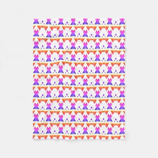 Couverture Polaire Motif géométrique coloré lumineux de gradient