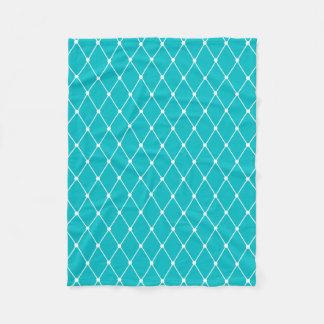 Couverture Polaire Motif géométrique de diamant de turquoise