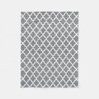 Couverture Polaire Motif gris et blanc de Quatrefoil