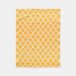Couverture Polaire Motif jaune et blanc d'or de Quatrefoil