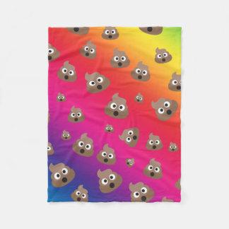 Couverture Polaire Motif mignon d'Emoji de dunette d'arc-en-ciel