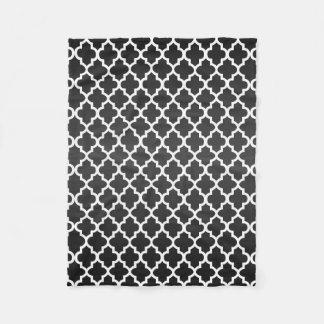 Couverture Polaire Motif noir et blanc de Sheen Quatrefoil