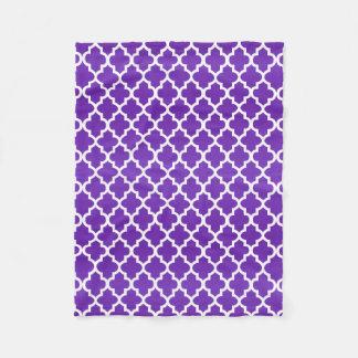 Couverture Polaire Motif pourpre et blanc de Quatrefoil
