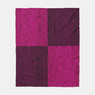 Couverture Polaire Motif pourpre rose de tuile de mosaïque,