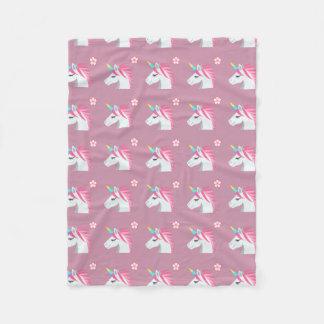 Couverture Polaire Motif rose Girly mignon d'Emoji de fleur de