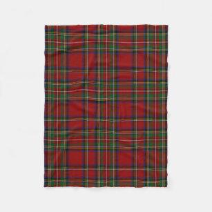 Couverture Polaire Motif traditionnel de plaid de tartan royal de