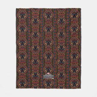 Couverture Polaire Motif tribal de tête de panthère de la panthère