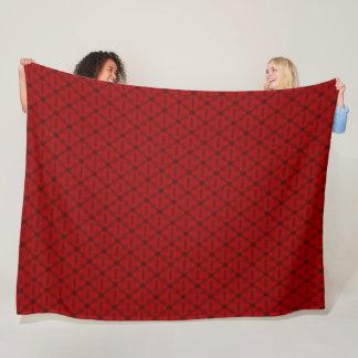 Couverture Polaire Motif tropical rouge de triangles de poinçon