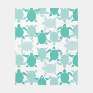 Couverture Polaire Motif turquoise de tortue
