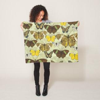 Couverture Polaire Motif vintage de diagramme de mite de papillon