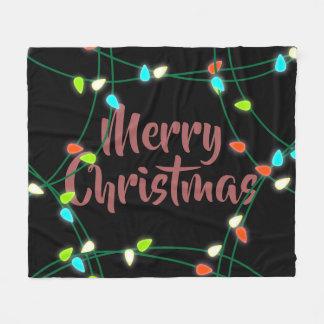 Couverture Polaire Noël de lumières de Noël Joyeux