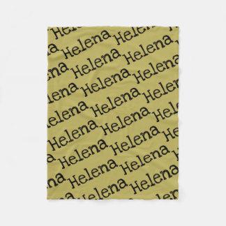 Couverture Polaire nom de Helena de motif noir orphelin de répétition