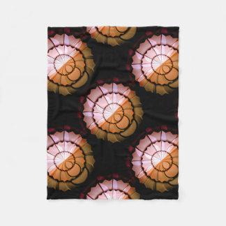 Couverture Polaire Orange abstraite