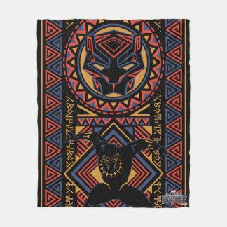 Couverture Polaire Panneau de panthère noire de la panthère noire |